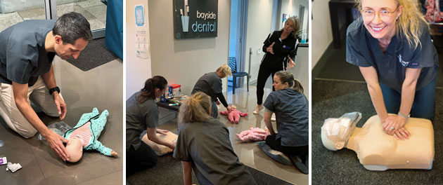 Bayside Dental team complete CPR training